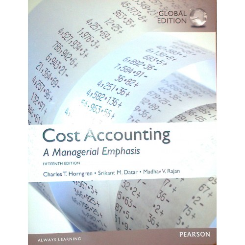 cost accounting a managerial emphasis global edition pdf